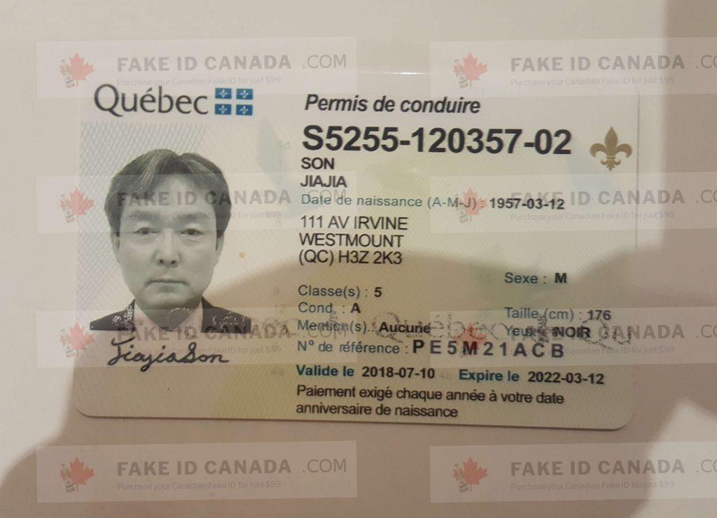 Quebec 79 Fakeidcanada - com Id Fake